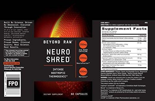 Beyond Raw Neuro Shred 60 caps
