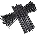 Twist Ties 1000 Pcs Black Twist Ties 6 Inch Plastic Cable Ties for Bread Candy Bags Party Cello Cake Pops