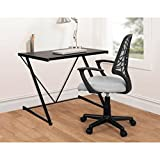 Urban Shop Z-Shaped Modern Contemporary Student Desk Black for Computer in Office at Home, Work or Studying by Urban Shop