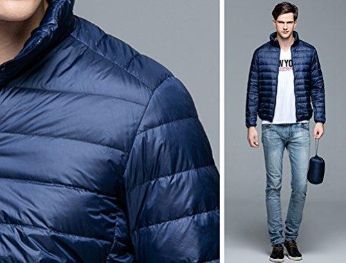 Lightweight Down Navy Jacket Winter Coat Outwear Warm ZKOO Padded Snow Men's Jacket AXqSSRw