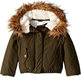 Appaman Kids Baby Girl's Extra Soft Lined Wilderness Jacket with Faux Fur Trim Hood (Toddler/Little Kids/Big Kids) Olive 5
