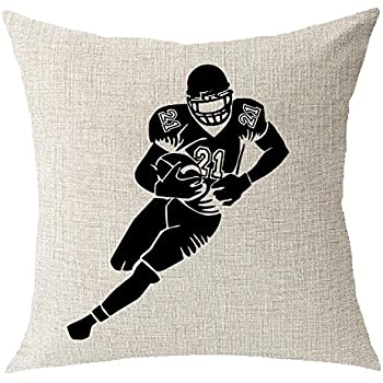 Outdoor sports basketball football Cotton Linen Square Throw Waist Pillow Case Decorative Cushion Cover Pillowcase Sofa 18x18 inches