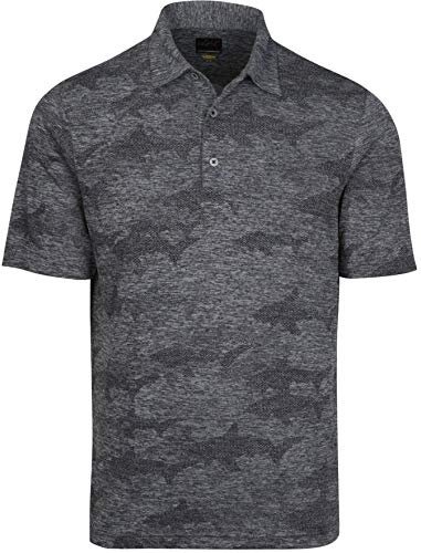 Greg Norman Stream Polo, Black Heather, Large