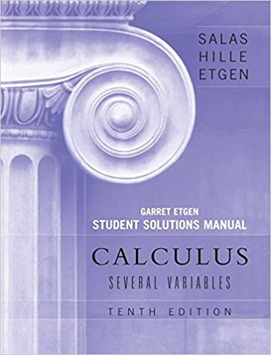 Student solutions manual to accompany calculus: ideas and.