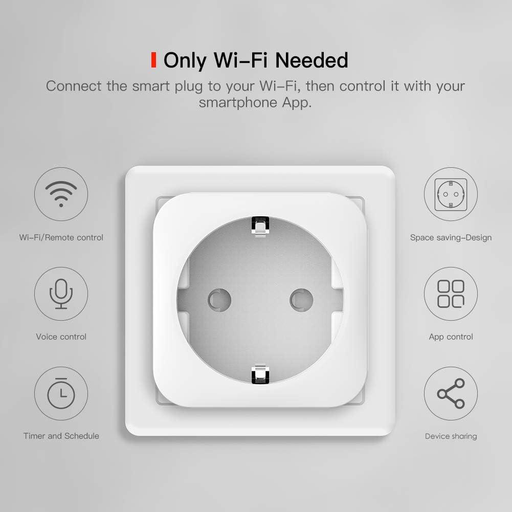 2 Packs No se Requiere Hub con Control Aplicaciones en Cualquier lugar Nooie Enchufe Inteligente para Control Remoto WiFi Mini Smart Plug con Funci/ón de Temporizador Horario y Bloqueo para Ni/ños