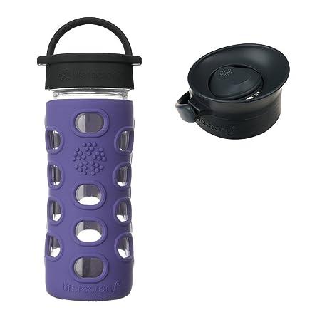f6c69cf65e6 Amazon.com   Lifefactory 12 oz Iris Glass Bottle Core 2.0 with Onyx ...