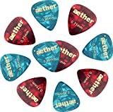 10 Guitar Picks, 2 Medium-Heavy Thicknesses, Pearl Celluloid Guitar Picks, 10 Pack Standard Shape