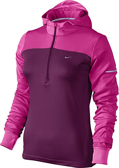 a559002559b1 ... s Running Hoodie at Amazon Women s Clothing store  Nike Hoodie Womens  Red  Nike Full Zip Jersey Hoodie Womens 614829-850 Light Crimson Hoody WMNS  Size ...