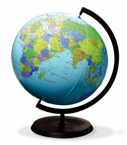 hand2mind Inflatable World Globe with Stand