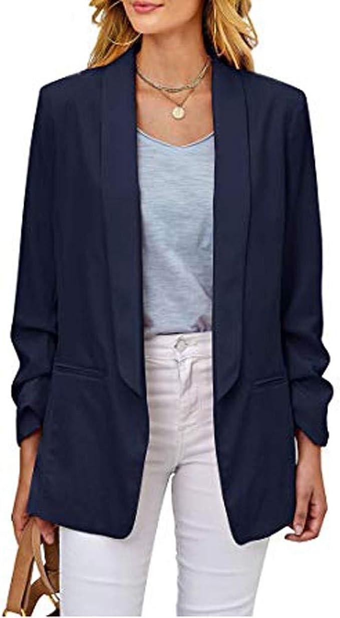 SUDADY Blazer Donna Elegante Corti Giacca Vintage Jacket Giacche Donne Cardigan Tailleur Giubbotto Giacchetta Cappotti Cerimonia Maglione Blusa Camicia Ragazza Tuta Abiti Magliette Suits Vestiti
