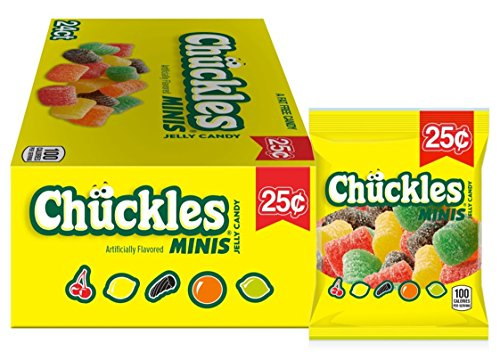 - Chuckles Mini Jelly Candy, Cherry, Lemon, Lime, Orange and Licorice, 1 Ounce (Pack of 24)