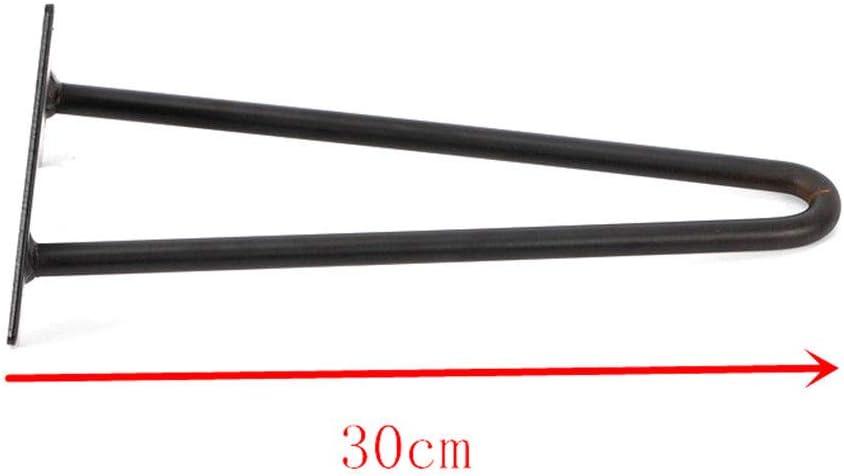 4x Haarnadel Tischbeine Austauschbare Tisch/&Schrank Beine 30CM Vintage Metall Zwei-Stange Haarnadel Tischbeine H/öhe f/ür Couchtische 2 Streben