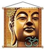 15'' X 15'' Golden Buddha Mandala Meditation Banner