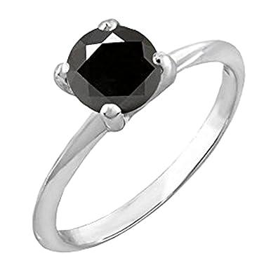ea2c147c056 DazzlingRock Collection Argent 925 Argent Sterling Rond Noir Diamant Noir