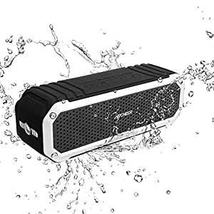 Waterproof Speaker, Archeer Wireless bluetooth 4.0 Speaker, IPX4 Shockproof Waterproof Dustproof Outdoor Speaker with Flashlight for iPhone 6 6s Plus Galaxy S5 S6 Edge Note 5 (Silver)