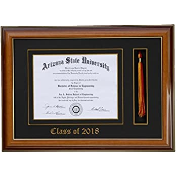 Amazon.com - Diploma Tassel frame 8x6 Walnut/Black 2018 ...