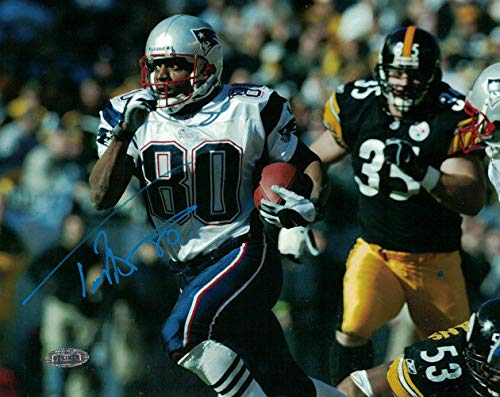 Troy Brown Autographed/Signed New England Patriots 8x10 Photo Steiner ()