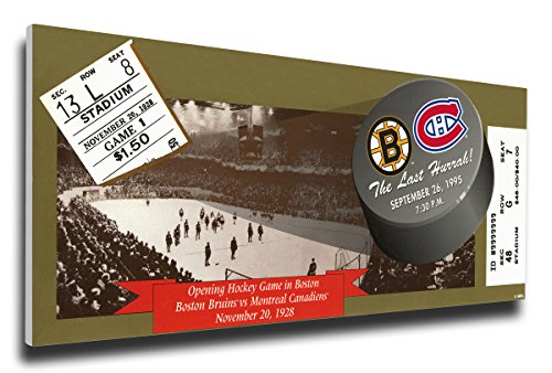 NHL Boston Bruins The Last Hurrah! Final Hockey Game at Boston Garden Mega (Ticket Boston Bruins Ticket)