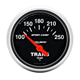 "Auto Meter 3357 Sport-Comp 2-1/16"" Short Sweep Electric Transmission Temperature Gauge"