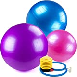 Crown-Sporting-Goods-Yoga-Ball-and-Core-Stability-Balance-Trainer-with-Foot-Pump