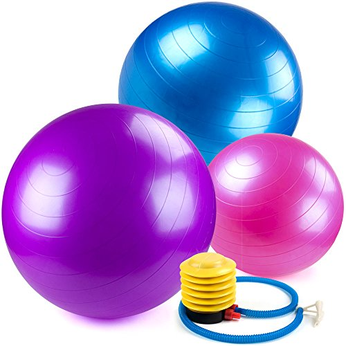 Crown Sporting Goods Yoga Ball and Core Stability Balance Trainer with Foot Pump – DiZiSports Store
