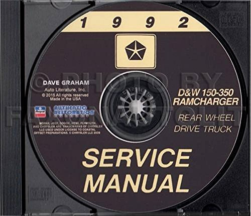 Dodge Chassis Body (1992 DODGE PICKUP & TRUCK REPAIR SHOP & SERVICE MANUAL CD Including D, W 150, 250, 350, S, Sport Utility, Conventional Cab, Club Cab & Ramcharger, 2WD, 4WD, gasoline and diesel engines)