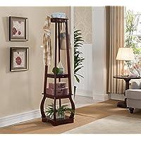 Kings Brand Furniture Entryway Coat Rack with Storage Shelves & Drawer