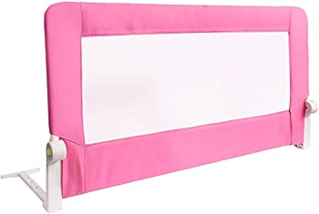 Tatkraft Guard Baby Foldable Bed Rail for Toddlers, Pink Color