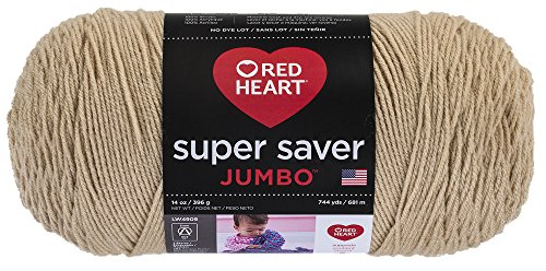 Red Heart  Super Saver Jumbo Yarn, Buff