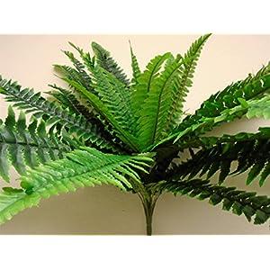 "Boston Fern Bush 29"" Leaves Artificial Silk Plant Greenery 30 - 5601GN 3"