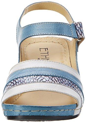 Florett Hannah - Sandalias con cuña Mujer Blau (Jeans-natur)