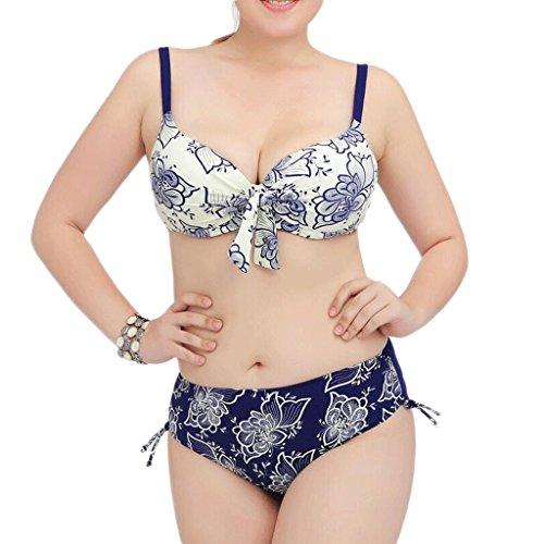 Traje de baño de las señoras Traje de baño de gran tamaño de impresión Spa traje de baño Bikini Bikini Blanco