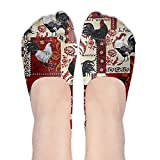 XYMNZGS Kawaii Rooster No Show Socks Women Ankle Socks Low Cut For Yoga