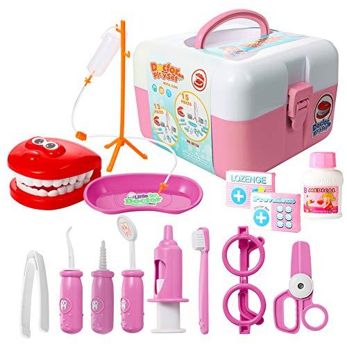 Dentist Child Costumes Kit - ThinkMax Dentist kit, 15 Pcs Pretend
