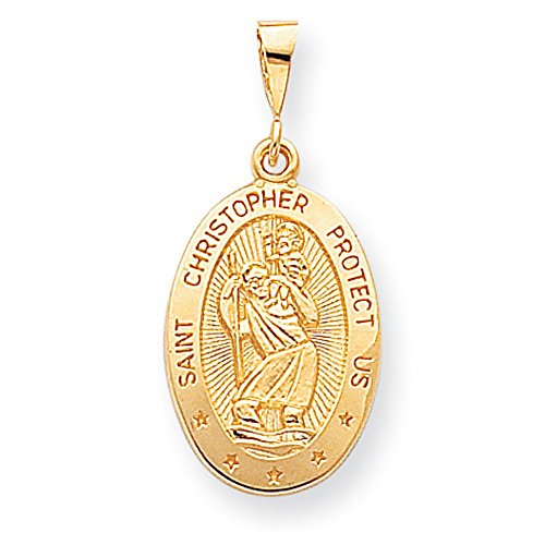 10k gold st christopher medal - 9
