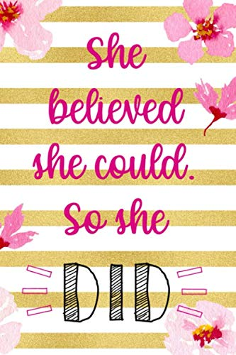 - She Believed She Could. So She Did: Blank Lined Notebook ( Cherry Blossom ) 3