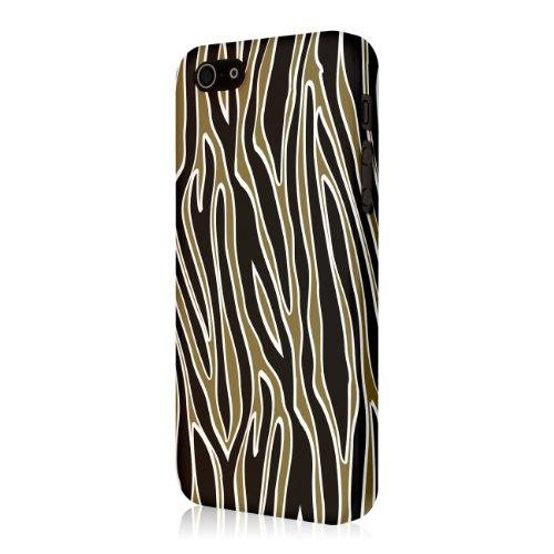 EMPIRE Signature Series One Piece Slim-Fit Case Tasche Hülle for Apple iPhone 5 / 5S - Golden Zebra