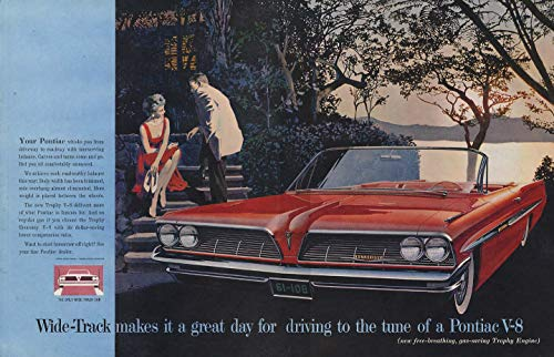 - Makes it a great day for driving - Pontiac Bonneville Convertible ad 1961 SEP