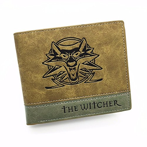 Geralt Wolf School Medallion Logo Polyester Wallet Stylish Gift by Urartu Creative's
