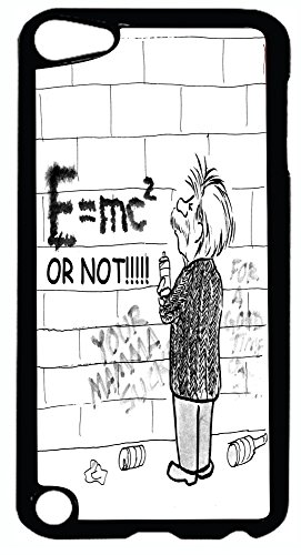 Rikki Knight Einstein Cartoon E=MC or Not Design iPod Touch Black Hard Shell Case for The 5th Generation -