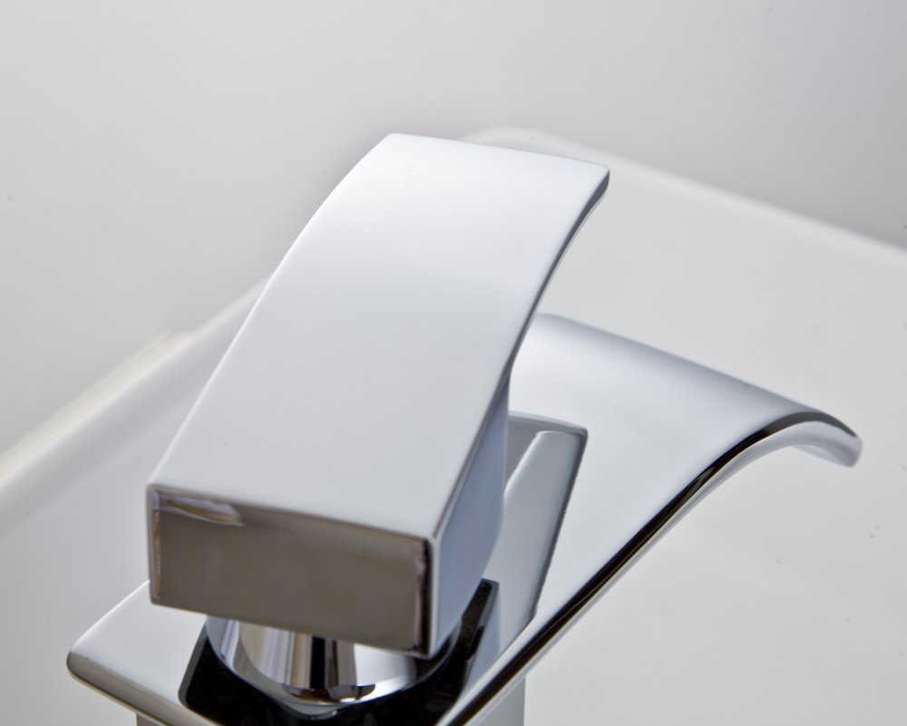 Rozin Luxury Deck Mount One Hole Basin Faucet Single Lever Sink Mixer Tap Gold Finish