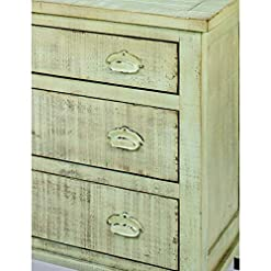 Bedroom Progressive Furniture Camryn Industrial Chest, 36″ by 18″ by 31.25″, Distressed Mint Green farmhouse dressers