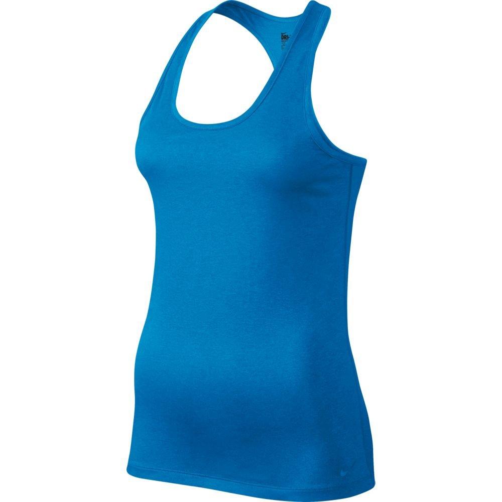 NIKE Women's Dry Balance Tank, Light Photo Blue, X-Small
