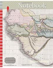 Notebook: 1813, Pinkerton Map of Western Africa, Niger Valley, Mountains of Kong, John Pinkerton, 1758 – 1826, Scottish antiquarian, cartographer, UK