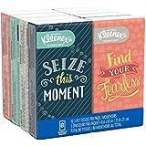 Kleenex Facial Tissues, On-The-Go Small Packs, Travel Size, 10 Tissues per Go Pack, 8 Packs