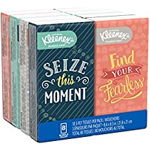 Kleenex Facial Tissues, On-The-Go Small Packs, Travel Size, 10 Tissues per Go Pack, 8 Packs