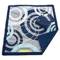 JJ Cole Outdoor Blanket, Blue Orbit, 5' x 5'