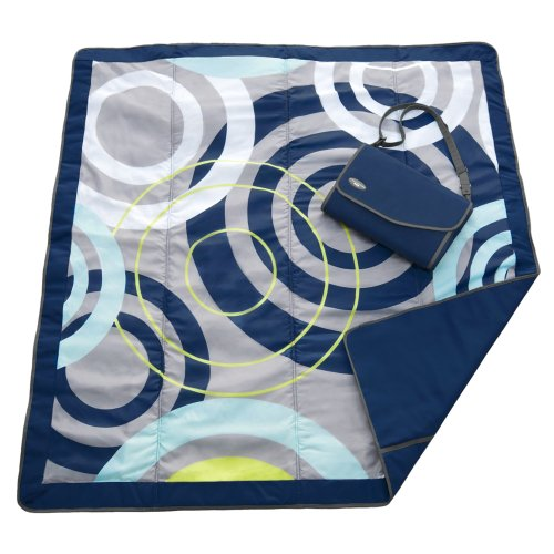 JJ Cole Outdoor Blanket, Blue Orbit, 5' x (Blue Outdoor Blanket)