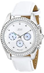 JBW Women's Swiss Quartz Gold-Tone Swarovski Crystal Watch with Diamond Indices
