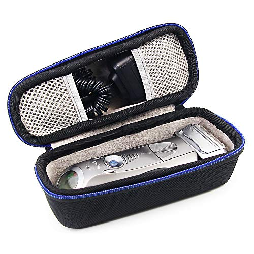 Hard Travel Case Bag for Braun Series 5 7 9 5190cc 790cc 7865cc 740S 760cc 9090cc9095cc Mens Electric Foil Shaver, Wet and Dry with Clean and Charge Station, Rechargeable and Cordless Razor by GUBEE
